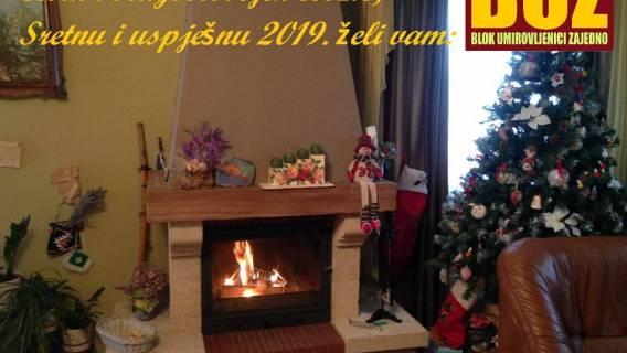 Čestit i blagoslovljen Božić... Sretna vam i uspješna 2019.