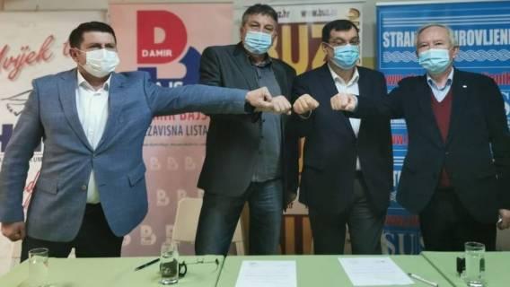 Damir Bajs BB župan potpisao koalicijski sporazum sa BUZ-om