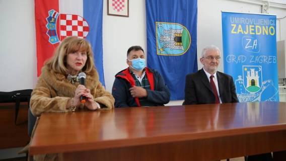 Kandidati platforme UMIROVLJENICI ZAJEDNO u obilasku Gradske četvrti Gornja Dubrava