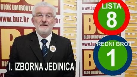 Milivoj Špika predsjednik BUZ-a i nositelj liste u I. izbornoj jedinici se obratio biračima