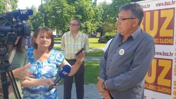 Predstavljanje liste BUZ-a za II izbornu jedinicu u Bjelovaru