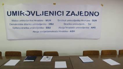 """Priopæenje za medije BLOK """"Umirovljenici zajedno""""."""
